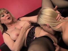 MILF Nina Hartley Gives Teen Girl Her First Lesiban Orgasm!