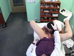 Busty dark haired mom banged in fake hospital