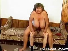 Fat Mature Pussy Gets Speared