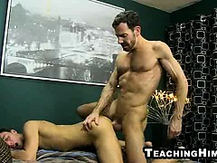 Kirk Cummings gets fucked hard by a mature stud