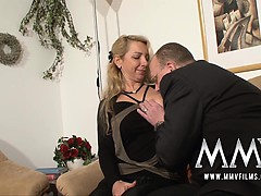 German mature pays with her pussy with pleasure