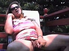 Awesome milf eats the dildo