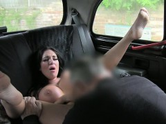 Massive boobs Milf payed for fucking with horny driver