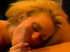 Vintage Blonde Deep Throating