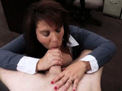 Busty Milf sells her husbands stuff and fucked for the bail