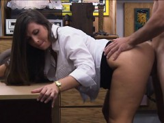 Big butt amateur babe fucked by pawn man at the pawnshop