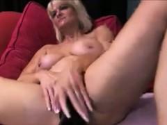sexy milf fucking a huge dildo homemade
