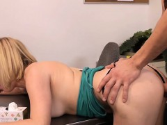 Blondie in glasses Penny Pax gets fucked in the office